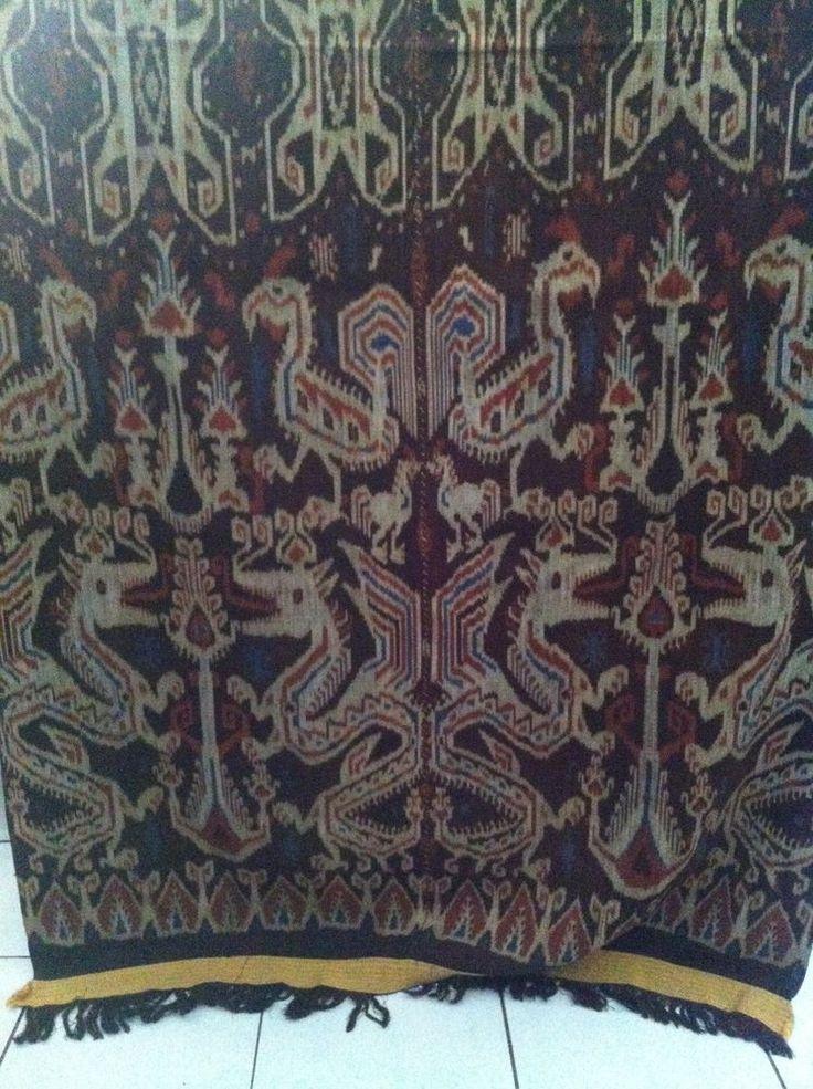 East Nusa Tenggara Traditional Ikat Weaving - Sumba Animal Motif's