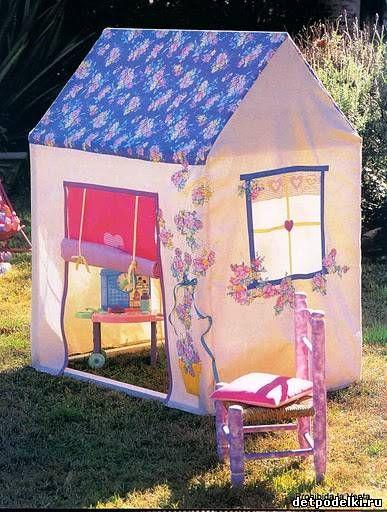 Pequeña casa para los niños. Ideas.