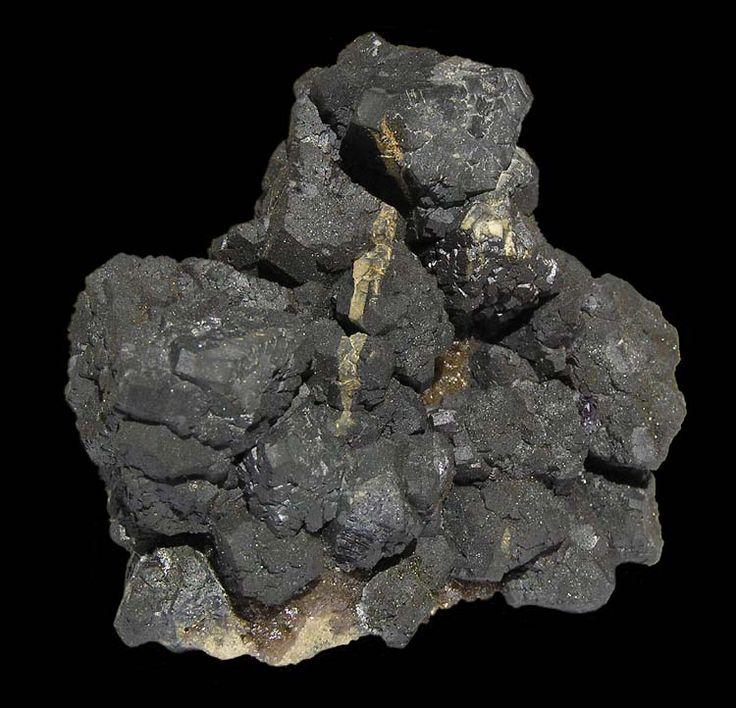 Toto je Galenit. Velikost vzorku: 53 x 48 mm.