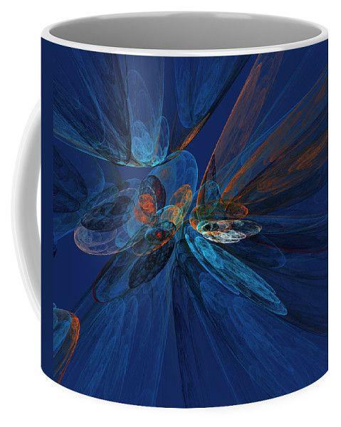 Fractal Fantasy Background In Blue Shades By Irina Safonova Background Coffee Mug featuring the photograph Fractal Fantasy Background In Blue Shades by Irina Safonova #IrinaSafonovaFineArtPhotography #food #Rustic #ArtForHome#CoffeeMug