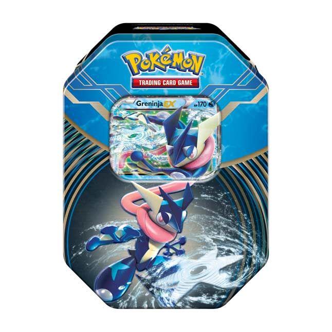 Pokemon Tcg Kalos Power Tin With The Stealthy Greninja Ex As A Special Foil Card Plus 4 Pokemon Tcg Boo Rare Pokemon Cards Pokemon Trading Card Pokemon Kalos