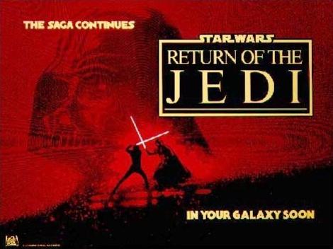 1983 Return Of The Jedi Original British Advance Film Poster. £450 at Vintage Seekers.
