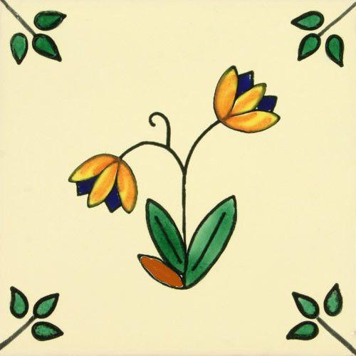 Especial Decorative Tile - Dos Botones De Oro – Mexican Tile Designs