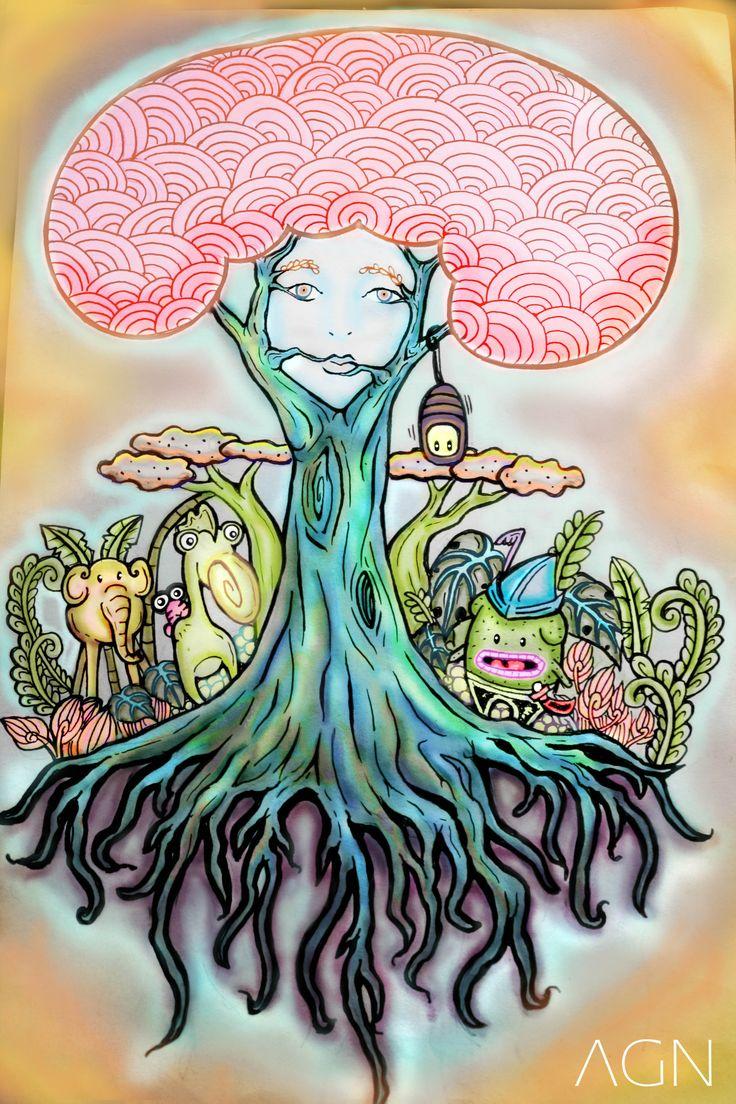 POHON KEHIDUPAN (EEYHWA) pertemuan kaktus men dengan pohon kehidupan. #AGNPLY