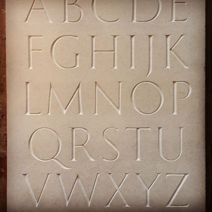My hand designed and carved stone lettering alphabet.