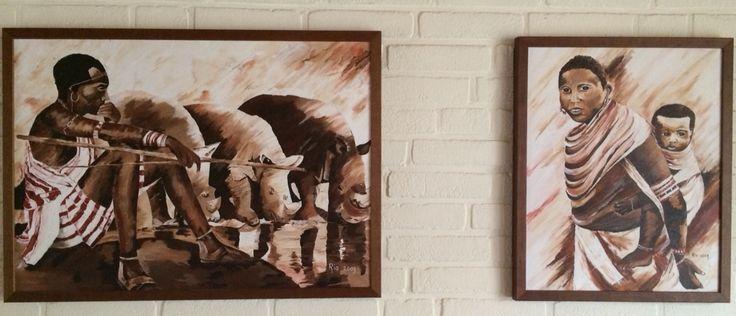 2 luik  Afrika by Ria Bos