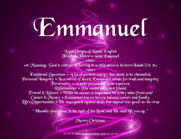 Emmanuel Name Meaning