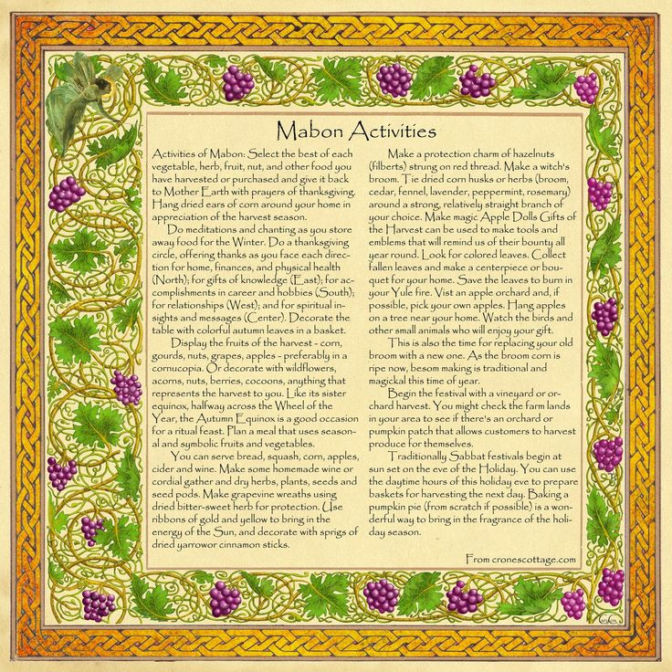 """Autumn Equinox:  """"Book of Shadows, #Mabon Page 3,"""" by Brightstone, at deviantART."""