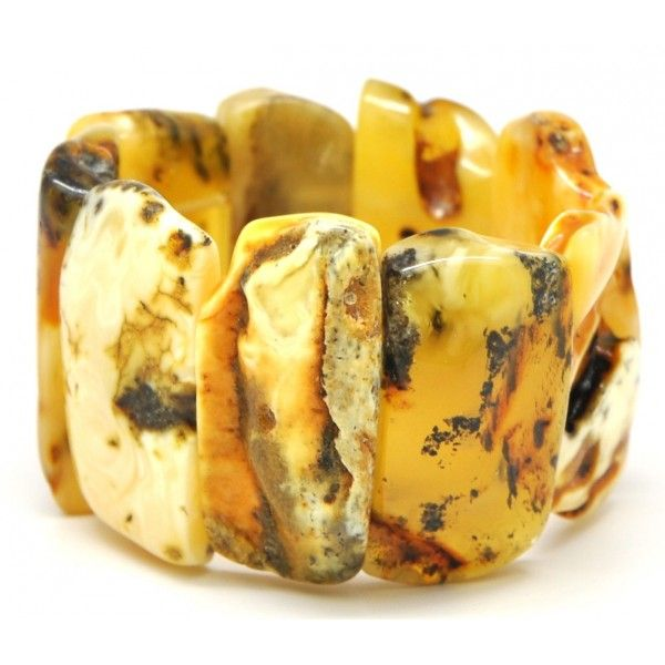 Amber bracelets | Natural shapes Baltic amber bracelet 58 g .