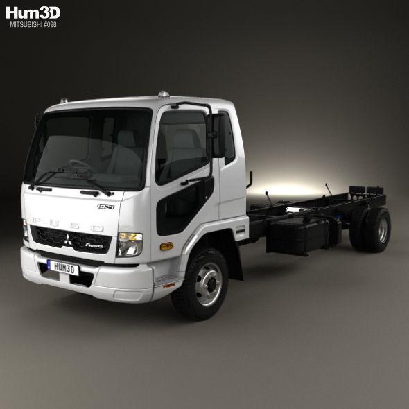 Mitsubishi Fuso Fighter 1024 Chassis Truck 2017 Mitsubishi Trucks 3d Model