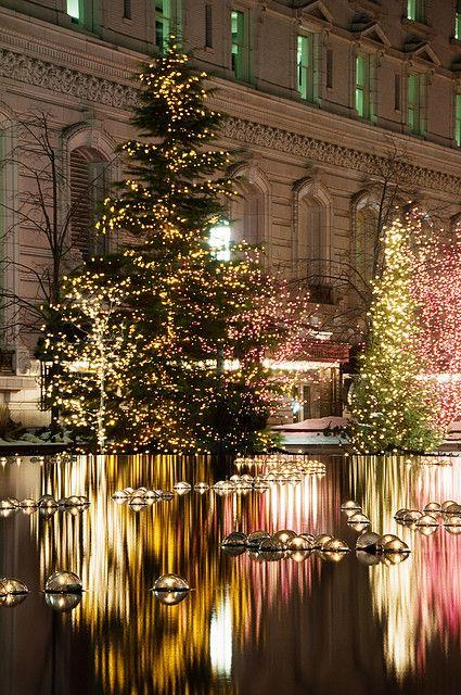 Salt Lake City Temple Square Christmas Lights.