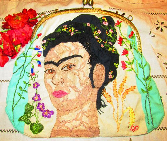 Arte tessile   borsa fatta a mano di StrassiColorai su Etsy