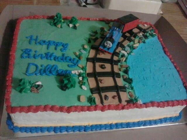 thomas the train sheet cake birthday cake cakes