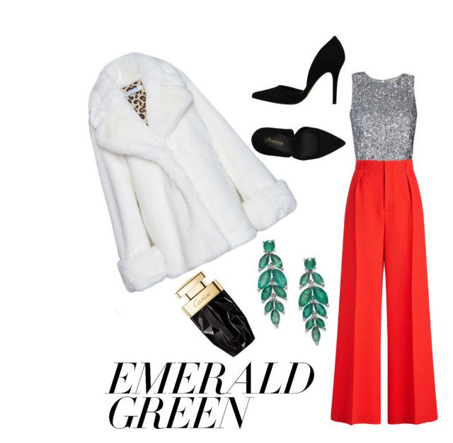 """emerald green"" by ziasmin on Polyvore featuring VIVETTA, Roland Mouret, PrimaDonna and emeraldgreen"