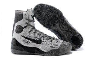 Nike Kobe 9 Elite High-Top Base Grey Black Online For Sale