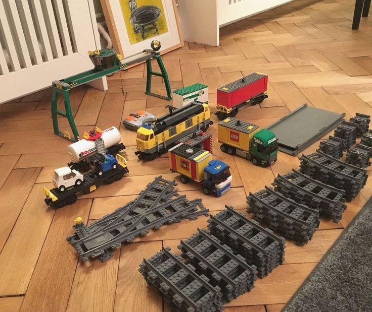 LEGO City Güterzug 7939 (ferngesteuert) mit 61 Schienen, 2 Weichen, viele EXTRAS  | eBay