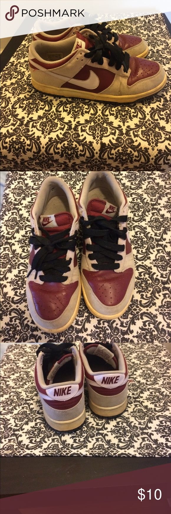 Nike Air Force 1 Pink and maroon size 7.5 Nike Shoes Sneakers