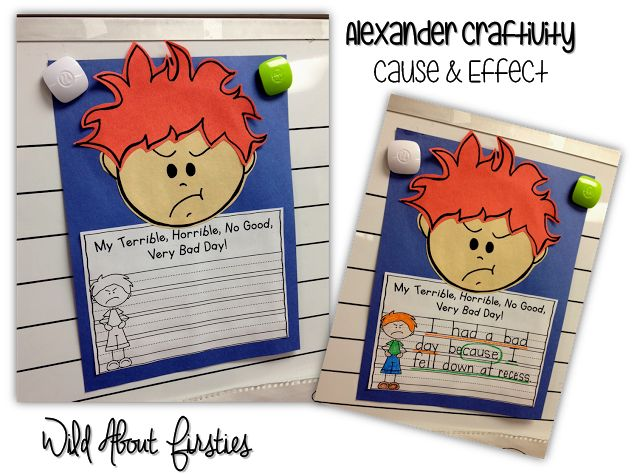 Cause and Effect Craft - Alexander and the Terrible, Horrible day