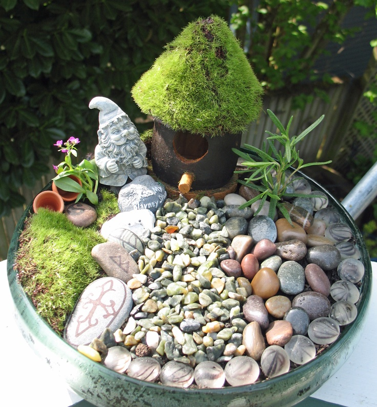 This Was My First Fairy Garden Really Simple I Used Most