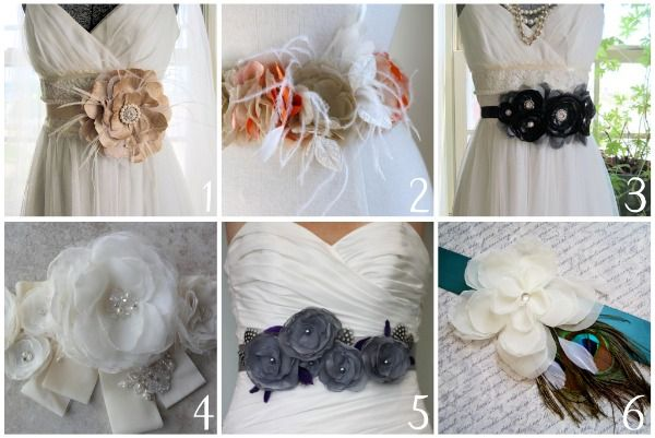 wedding dress belt/ sash with feathers - Google Search
