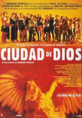 Ciudad de Dios (2002) movie Poster mounted on wood