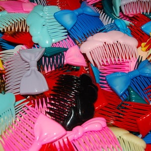 plastic hair combs 80's -- that and banana clips!