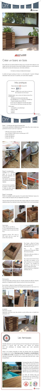 Réaliser un joli banc en bois avec pots intégrés pour arborer son extérieur - à partir de lames de terrasse c'est possible !