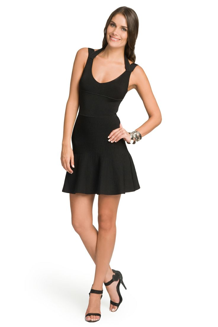 Fit n flare cocktail dress and boots