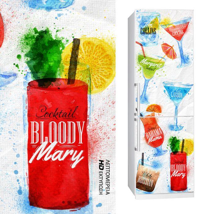 Fabric Fridgy Sticker COCKTAIL by Sticky!!!
