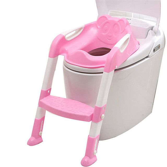 Kids Foldable Potty Trainer Chair Toilet Seat Safety Baby Non-Slip Ladder Stool Folding Seat New