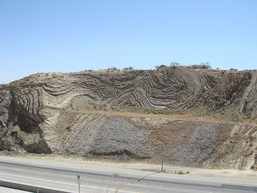San Andreas Fault @ Palmdale, CA... We were always glad to be back on the north side of this line!