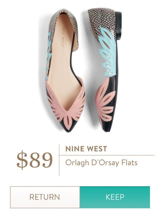 NINE WEST Orlagh D'Orsay Flats  I love Stitch Fix! Personalized styling service and it's amazing!! Fill out a style profile with sizing and preferences. Then your very own stylist selects 5 pieces to send to you to try out at home. Keep what you love and return what you don't. Try it out using the link! #stitchfix @stitchfix. Stitchfix Spring 2016. Stitchfix Summer 2016. https://www.stitchfix.com/referral/5634870.