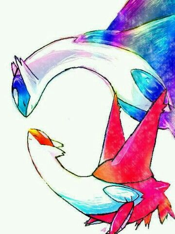 Latios and latias--- to who ever drew this It's extremely awesome