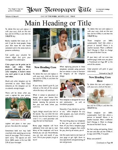 21 best Personal (General) Newspaper Templates images on Pinterest - old newspaper template