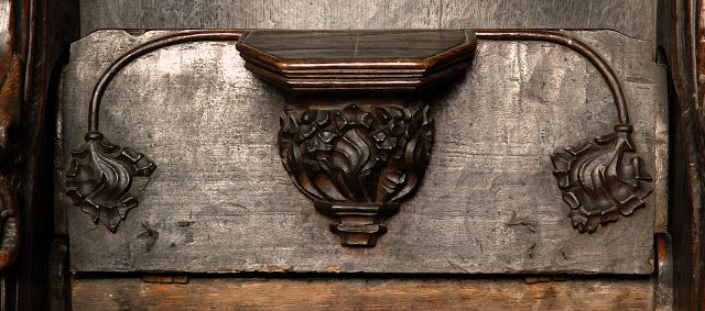 forma es vacío, vacío es forma: Sillería de coro - talla, gótico, madera
