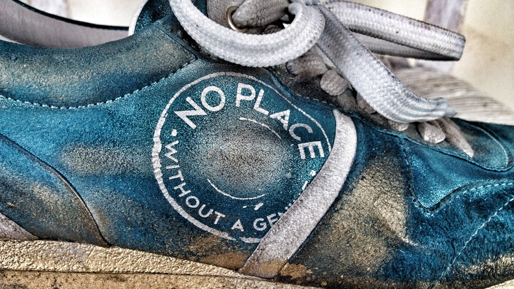 No Place Without a #genius- Saio, Ocean #sneakers