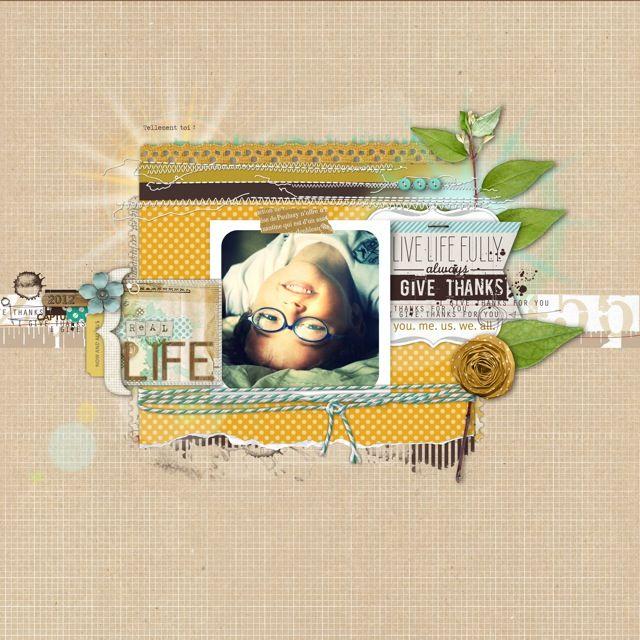 fabulous scrapbook page from Christina at DesignerDigitals!