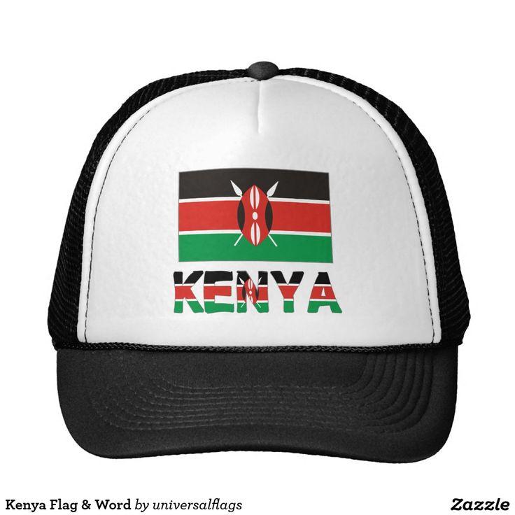 Kenya Flag & Word Trucker Hat