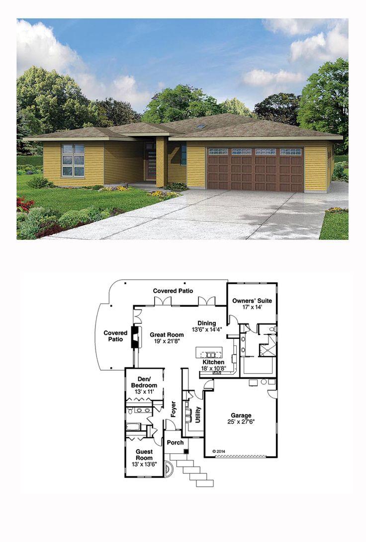 Contemporary Craftsman Prairie Style Ranch House Plan