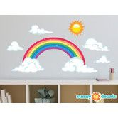 Found it at Wayfair - Sparkling Rainbow Fabric Wall Decal