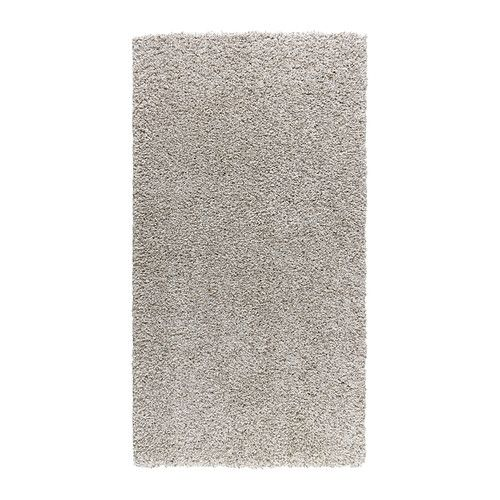 "IKEA - ALHEDE, Rug, high pile, 2 ' 7 ""x4 ' 11 "", , The dense, thick pile dampens sound and provides a soft surface to walk on.Durable, stain resistant and easy to care for since the rug is made of synthetic fibers.The high pile makes it easy to join several rugs, without a visible seam."