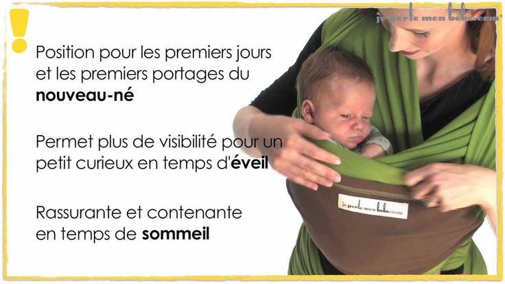 """Tuto écharpe de portage : porter bébé en position """"Assis de profil"""" - JPMBB"""
