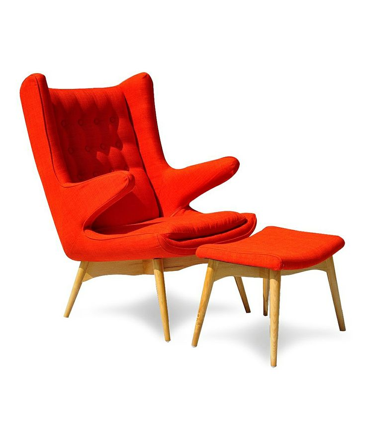 Modern Furniture :: Red Moderno Chair U0026 Ottoman   International Design