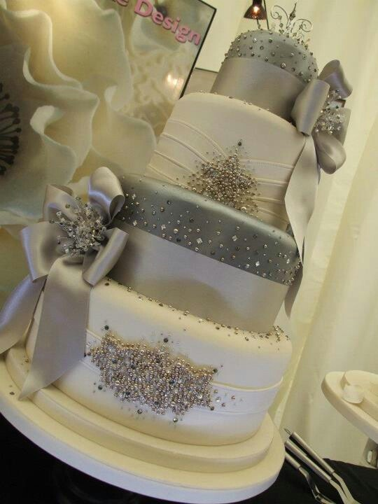beautiful blinged out wedding cake | Cakes - Wedding | Pinterest ...