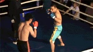 Really quick switch kick to the head that puts the lights out.