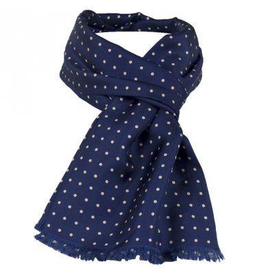 men's silk scarf- blue