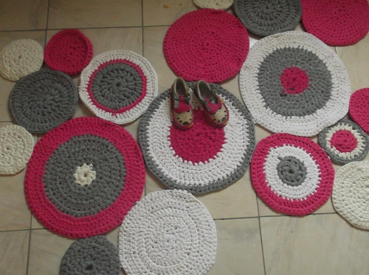 Tapete em crochet de trapilho my originals pinterest for Tapetes de crochet