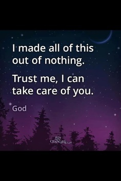God created it all...including us...don't you think He can take care of 'any' problems you have? Trust me, He can. He's just waiting for you to give them to him...