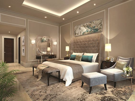 fabulous gold bedroom decorating ideas | 28 Fabulous Master Bedrooms With Sitting Area | Bedroom ...