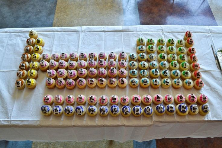 Periodic Table of Cupcakes. Or: things that would have upped my high school chem grade...